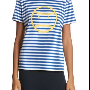 Tory Sport Tops - Tory Sport Little Grumps striped T shirt Blue